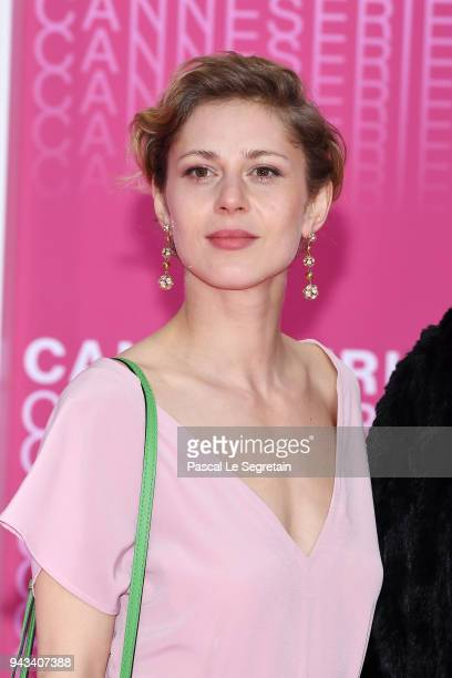 Katharina Schlothauer from the serie The Typist attends Killing Eve and When Heroes Fly screening during the 1st Cannes International Series Festival...