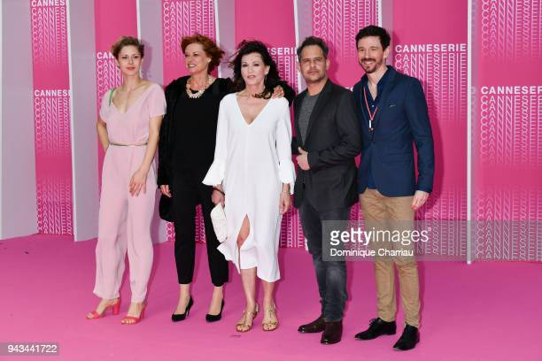 Katharina Schlothauer Nina Grosse Iris Berben Moritz Bleibtreu and Jan Ehlert attend Killing Eve and When Heroes Fly screening during the 1st Cannes...