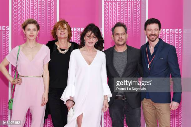 Katharina Schlothauer Nina Grosse Iris BerbenMoritz Bleibtreu and a guest from the serie The Typist attend Killing Eve and When Heroes Fly screening...