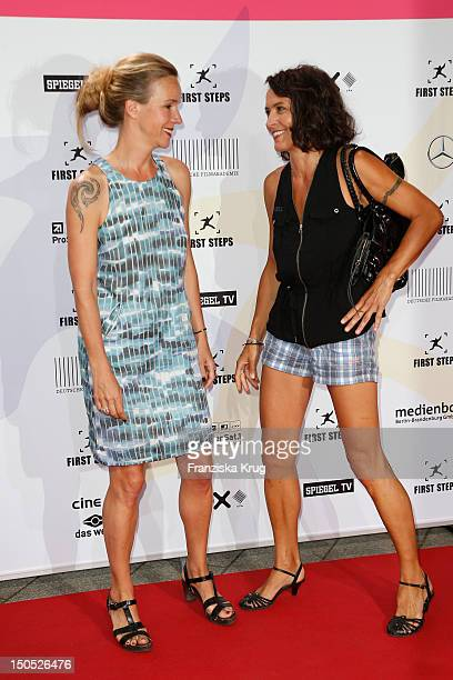 Katharina Schnitzler and Ulrike Folkerts attend the 'First Step Awards 2012' in the Stage Theater Potsdamer Platz on August 20 2012 in Berlin Germany