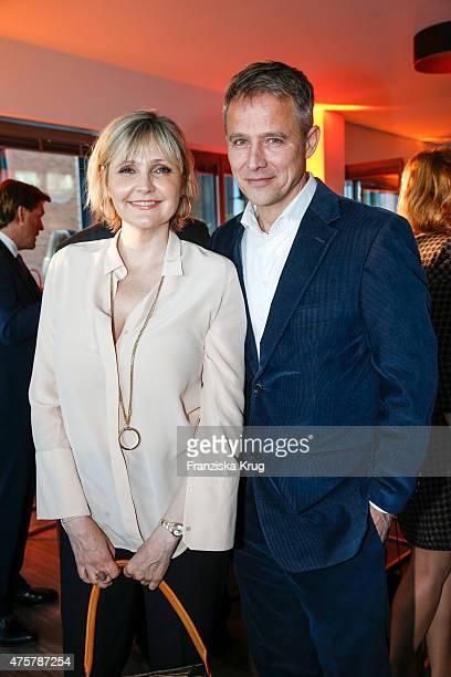 Katharina Schubert and Andreas Brucker attend the BurdaNews Night on June 03 2015 in Hamburg Germany