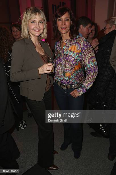 Katharina Schubert and Carin C Tietze attend the Ndf Afterwork Party at 8 Seasons on March 20 2013 in Munich Germany