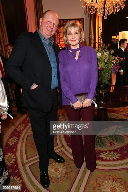 Katharina Schubert and her husband Otto Wachs during the Bunte and BMW Festival Night 2016 during the 66th Berlinale International Film Festival...