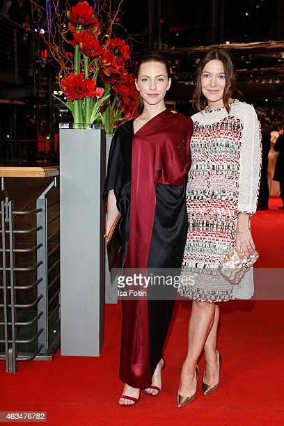 Katharina Schuettler and Hannah Herzsprung attend the Closing Ceremony of the 65th Berlinale International Film Festival on February 14 2015 in...