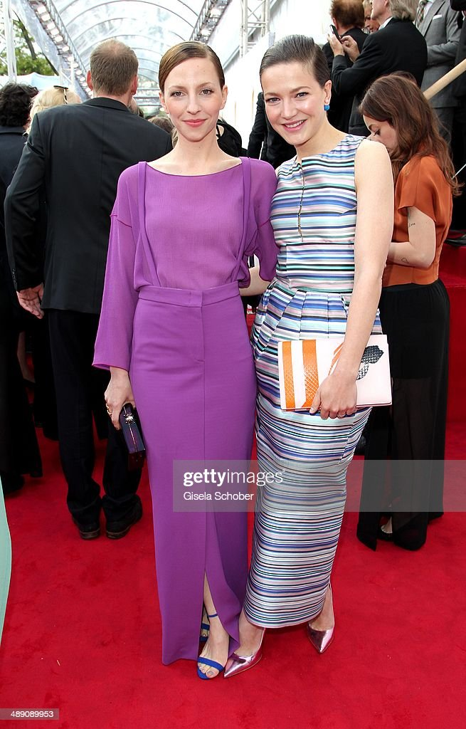 Katharina Schuettler and Hannah Herzsprung attend the Lola - German Film Award 2014 at Tempodrom on May 9, 2014 in Berlin, Germany.