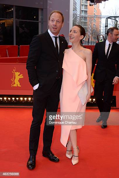 Katharina Schuettler and Johann von Buelow attend the '13 Minutes' premiere during the 65th Berlinale International Film Festival at Berlinale Palace...