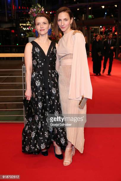 Katharina Schuettler and Karoline Schuch attend the Opening Ceremony 'Isle of Dogs' premiere during the 68th Berlinale International Film Festival...