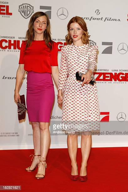 Katharina Schuettler and Karoline Schuch attend the 'Schutzengel' Premiere at CineStar on September 18 2012 in Berlin Germany