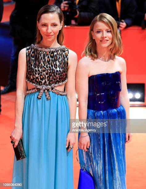 Katharina Schuettler and Karoline Schuch attend the 'The Kindness Of Strangers' premiere within the 69th Berlinale International Film Festival at...