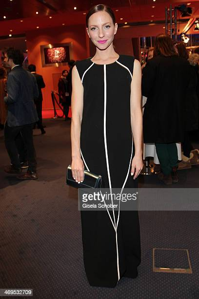 Katharina Schuettler attends the closing ceremony during the 64th Berlinale International Film Festival at Berlinale Palast on February 15 2014 in...