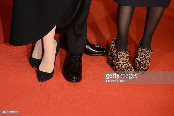 Katharina Schuettler Clemens Schick and Aino Laberenz attend 'The Grand Budapest Hotel' Premiere and opening ceremony during the 64th Berlinale...