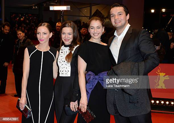 Katharina Schuettler Hannah Herzsprung Henriette Confurius and guest arrive for the closing ceremony during 64th Berlinale International Film...