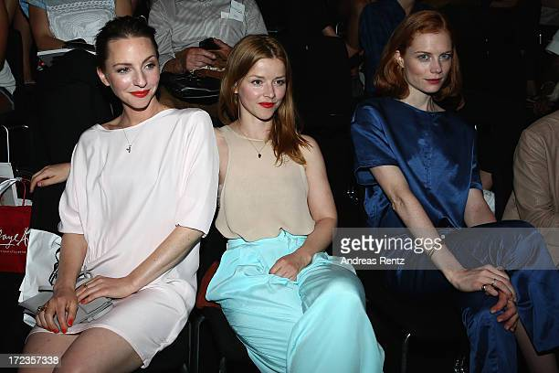 Katharina Schuettler Karoline Schuch and Jessica Joffe attend the Malaikaraiss Show during MercedesBenz Fashion Week Spring/Summer 2014 at...