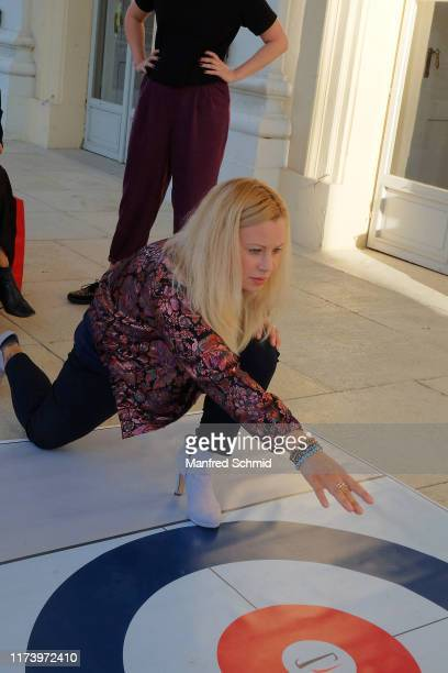 Katharina Strasser poses during the 'Curling For Eisenstadt' pre-premiere at Schloss Esterhazy on September 10, 2019 in Eisenstadt, Austria.