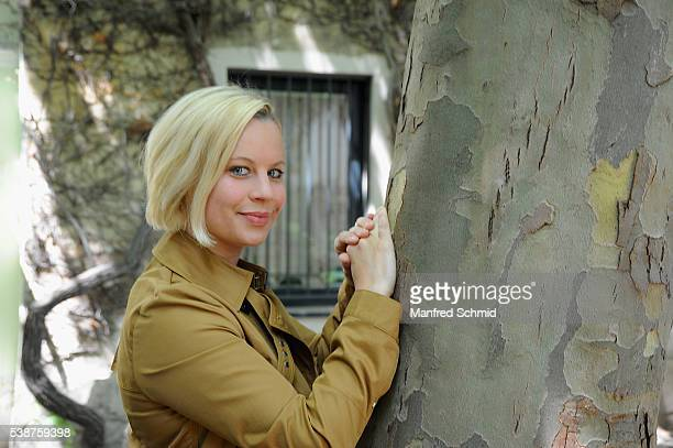Katharina Strasser poses during the 'Schnell ermittelt' on set photo call on June 8, 2016 in Vienna, Austria.