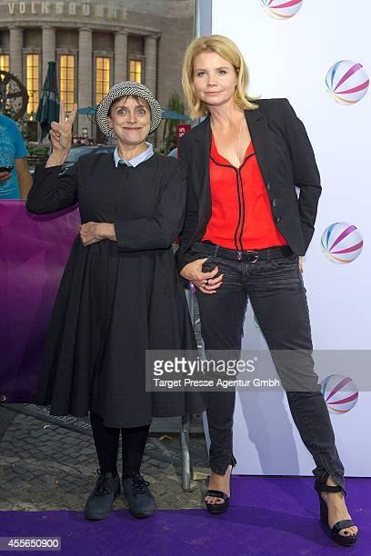 Katharina Thalbach and Annette Frier attend the 'Die Schlikkerfrauen' photocall at Babylon on September 17 2014 in Berlin Germany