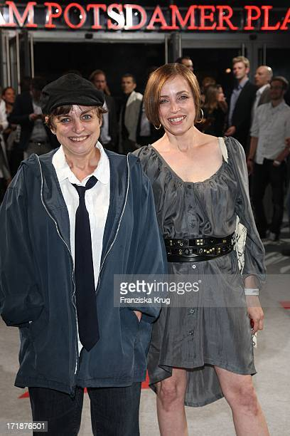 Katharina Thalbach And Daughter Anna Thalbach Upon arrival to the premiere film Inglourious Basterds In Berlin Theater Am Potsdamer Platz