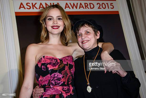 Katharina Thalbach and Emilia Schuele pose during the ceremony of the Askania Award 2015 at Kempinski Hotel Bristol on February 3, 2015 in Berlin,...