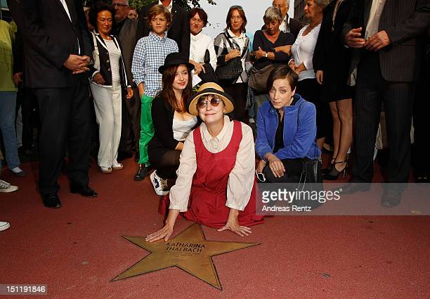 Katharina Thalbach her daughter Anna Thalbach and her grandchild Nellie Thalbach attend a ceremony honoring her with a Star on the Berlin Walk of...
