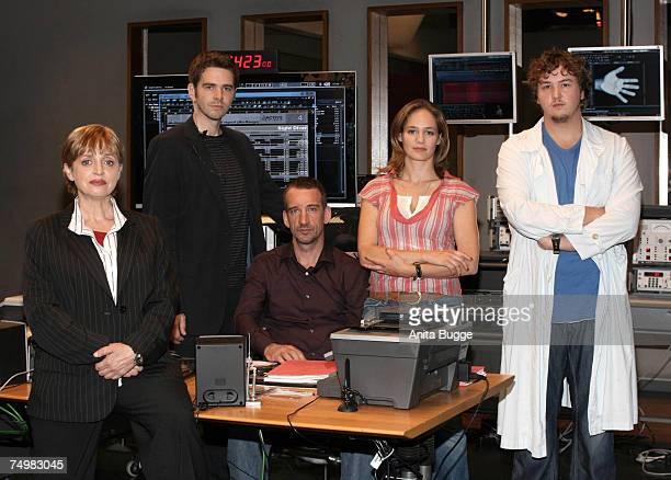 "Katharina Thalbach, OliverBoysen, Heio von Stetten, Sonsee Neu and Daniel Zillmann pose at the launch of the new Sat.1 Mystery series ""Deadline"" on..."