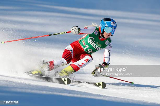 Katharina Truppe of Austria competes during the Audi FIS Alpine Ski World Cup Women's Giant Slalom on December 28, 2019 in Lienz Austria.