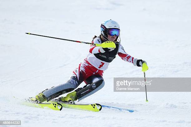 Katharina Truppe of Austria competes in the Alpine Slalom FIS Australia New Zealand Cup during the Winter Games NZ at Coronet Peak on August 29 2015...