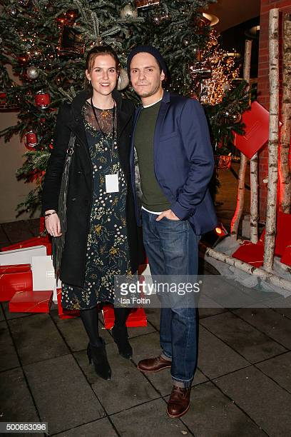 Katharina von Trott and Daniel Bruehl attend the INTIMISSIMI Christmas Reception on December 09 2015 in Munich Germany