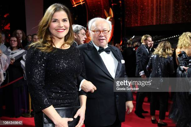 Katharina Wackernagel and Dr Hubert Burda during the Bambi Awards 2018 Arrivals at Stage Theater on November 16 2018 in Berlin Germany