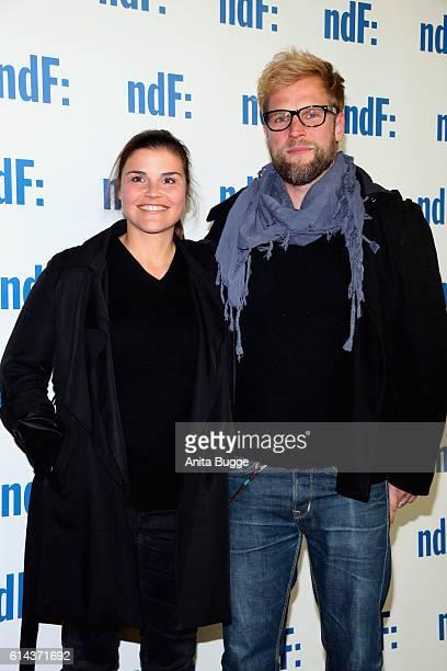 Katharina Wackernagel and Henning Bohm attend the 'Der IslandKrimi Der Tote im Westfjord' premiere at Astor Film Lounge on October 13 2016 in Berlin...