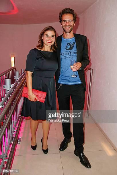 Katharina Wackernagel and her brother Jonas Grosch attend the Bertelsmann Summer Party at the Bertelsmann representative office on September 10 2014...