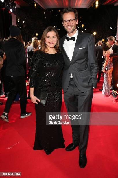 Katharina Wackernagel and her brother Jonas Grosch during the Bambi Awards 2018 Arrivals at Stage Theater on November 16 2018 in Berlin Germany