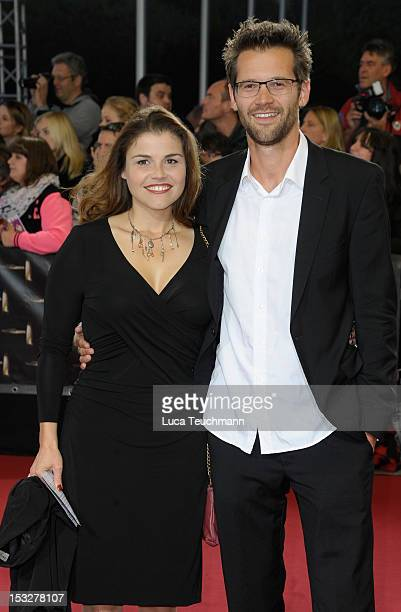 Katharina Wackernagel and Jonas Grosch arrive for the German TV Award 2012 at the Coloneum on October 2 2012 in Cologne Germany