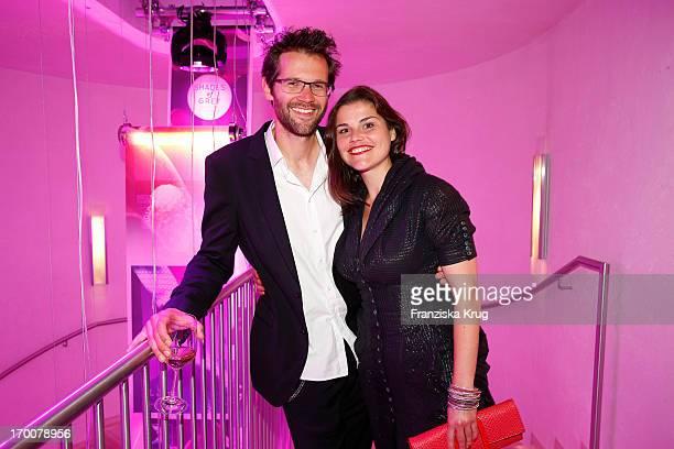Katharina Wackernagel and Jonas Grosch attend the Bertelsmann Summer Party at the Bertelsmann representative office on June 6 2013 in Berlin Germany
