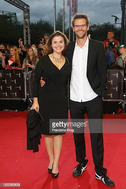 Katharina Wackernagel and Jonas Grosch attend the German TV Award 2012 at Coloneum on October 2 2012 in Cologne Germany