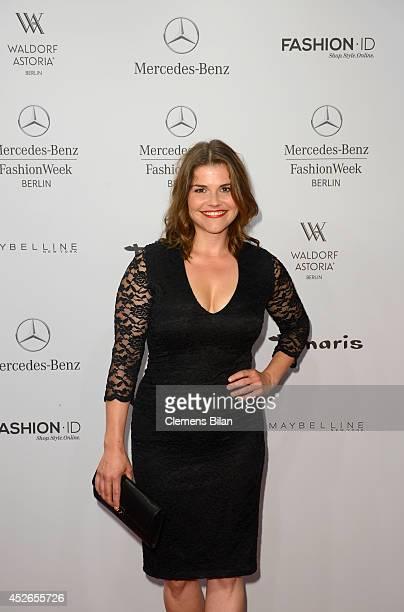 Katharina Wackernagel attends the Guido Maria Kretschmer show during the MercedesBenz Fashion Week Spring/Summer 2015 at Erika Hess Eisstadion on...