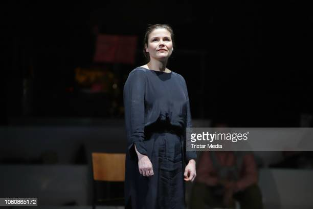 Katharina Wackernagel during the theatre play 'Westend' press rehearsal at Kammerspiele on January 11 2019 in Hamburg Germany