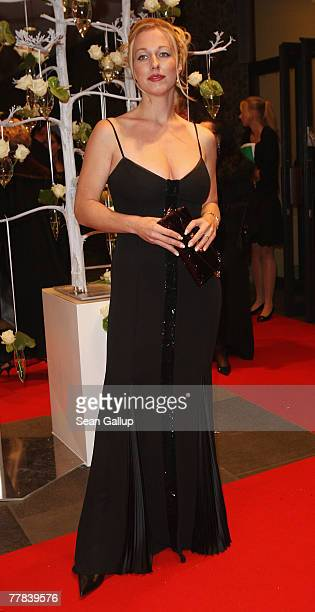 Katharina Wagner 29yearold greatgranddaughter of German composer Richard Wagner attends the 14th AIDS Gala at the Deutsche Oper November 10 2007 in...