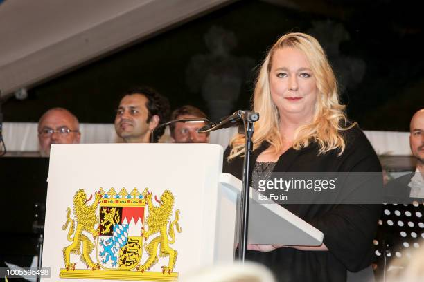 Katharina Wagner attends the Bayreuth Festival 2018 state reception at Neues Schloss on July 25 2018 in Bayreuth Germany