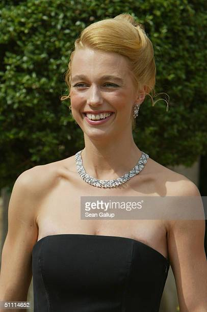 Katharina Wagner daughter of Wolfgang Wagner General Director of the Richard Wagner Festival arrives for the opening performance of Richard Wagner's...