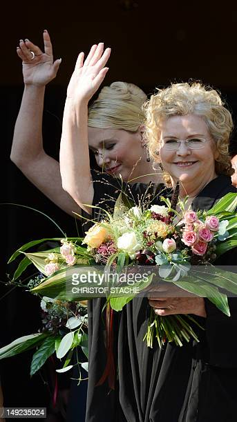 Katharina Wagner greatgranddaughter of German composer Richard Wagner and codirector of the Bayreuth music festival and her halfsister and codirector...