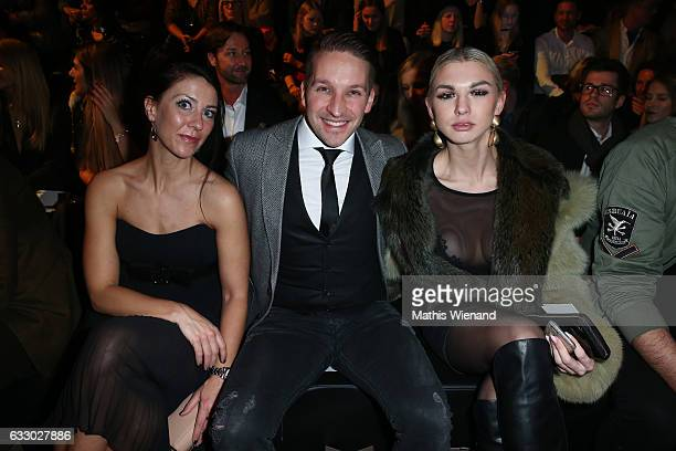Katharina Wagner Tom Marks and Natalia Osada attend the Thomas Rath show during Platform Fashion January 2017 at Areal Boehler on January 29 2017 in...