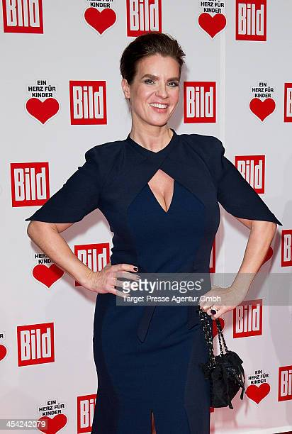 Katharina Witt attends the 'Ein Herz Fuer Kinder Gala 2013' at Flughafen Tempelhof on December 7, 2013 in Berlin, Germany.