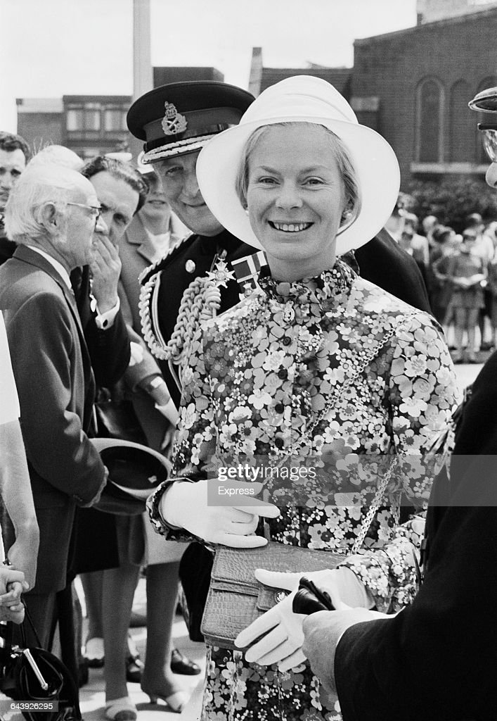 Katharine, Duchess of Kent at an Army Catering Corps Church Parade in Aldershot, UK, 13th June 1971.
