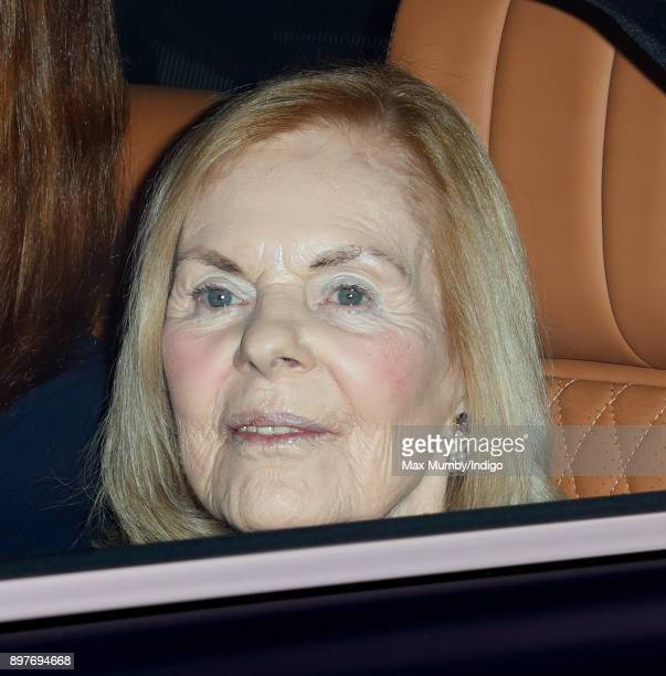Katharine Duchess of Kent attends a Christmas lunch for members of the Royal Family hosted by Queen Elizabeth II at Buckingham Palace on December 20...