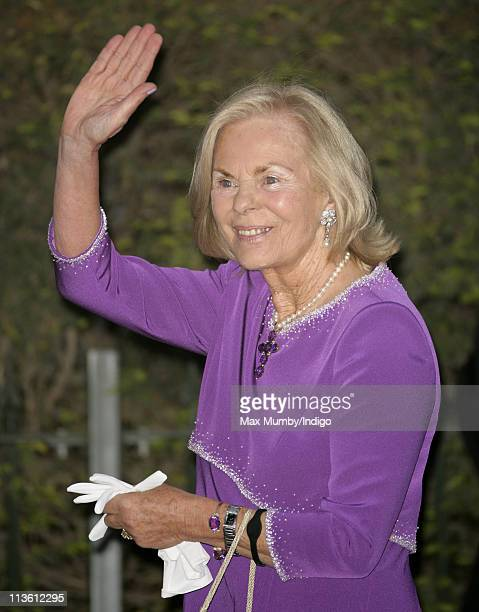 Katharine Duchess of Kent attends a gala PreWedding dinner on the eve of the Royal Wedding of Prince William to Catherine Middleton at Mandarin...
