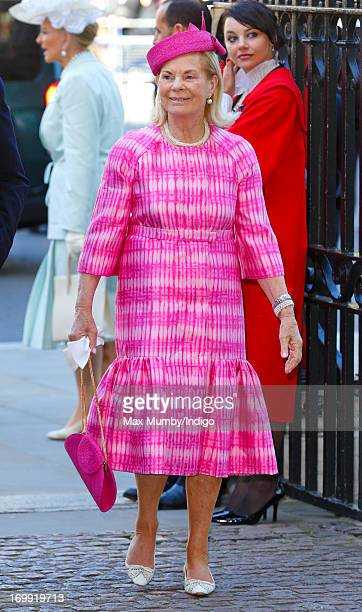 Katharine Duchess of Kent attends a service of celebration to mark the 60th anniversary of the Coronation of Queen Elizabeth II at Westminster Abbey...