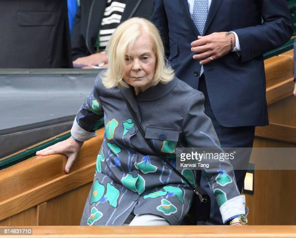 Katharine Duchess of Kent attends day eleven of the Wimbledon Tennis Championships at the All England Lawn Tennis and Croquet Club on July 14 2017 in...