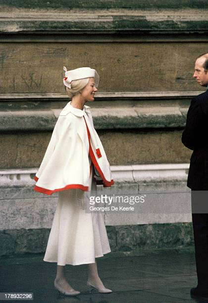 Katharine Duchess of Kent attends the Royal Christmas Service at St George's Chapel on December 25 1984 in Windsor England