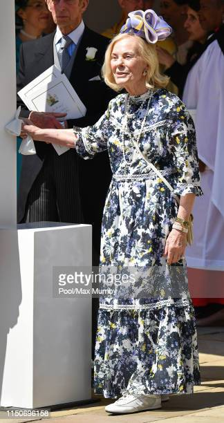 Katharine Duchess of Kent attends the wedding of Prince Harry to Ms Meghan Markle at St George's Chapel Windsor Castle on May 19 2018 in Windsor...