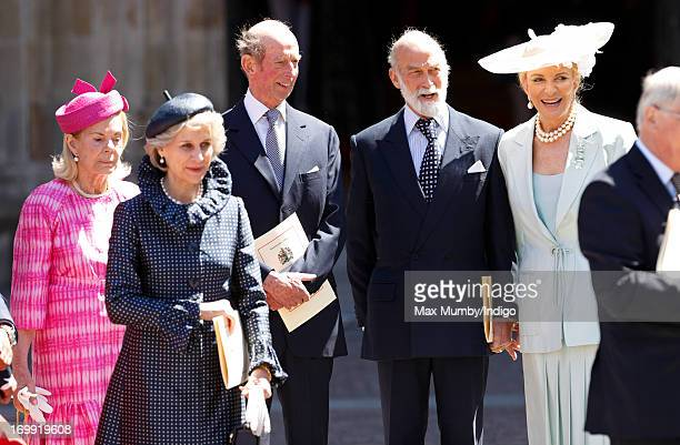 Katharine Duchess of Kent Birgitte Duchess of Gloucester Prince Edward Duke of Kent Prince Michael of Kent and Princess Michael of Kent attend a...